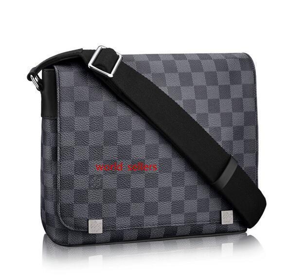 7A Distrito Calidad Gm N41030 hombres bolsos del mensajero del hombro de la correa del bolso de totalizadores de la cartera carteras del equipaje de la lona