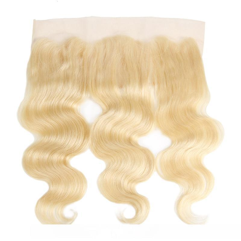 B Ishow Hair Brazilian Hair Body Wave Human Hair Bundles Extensions 3pcs With Lace Frontal Closure 613 Blonde Bundles With Frontal