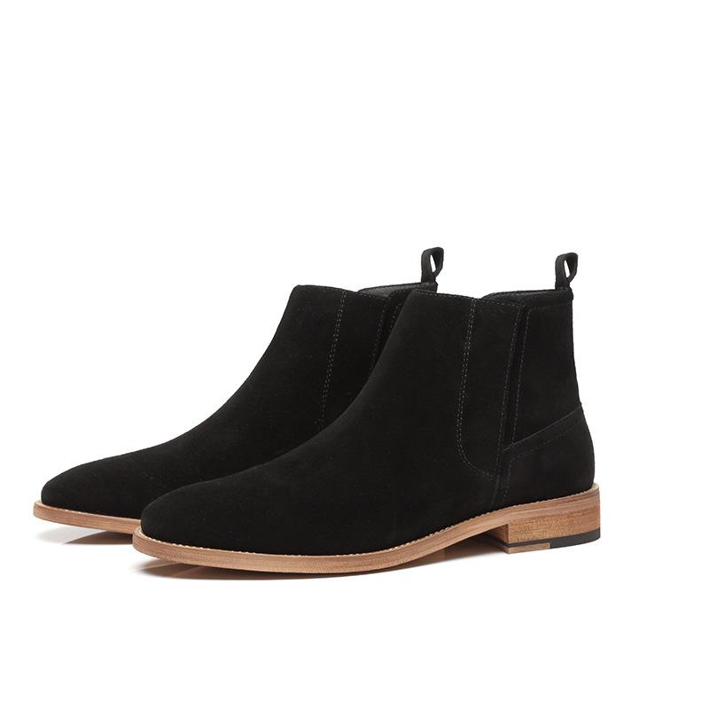 Nuevo diseño para hombre ocio desierto botas de cuero de gamuza de vaca herramientas zapatos tendencia botas punta estrecha tobillo bota masculina botines