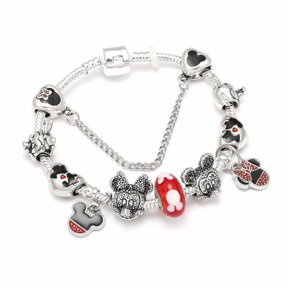 Hot Sale & Charm Bracelets For Children Lovers Castle Beads Bracelets & Bangles DIY Jewelry Pulseras