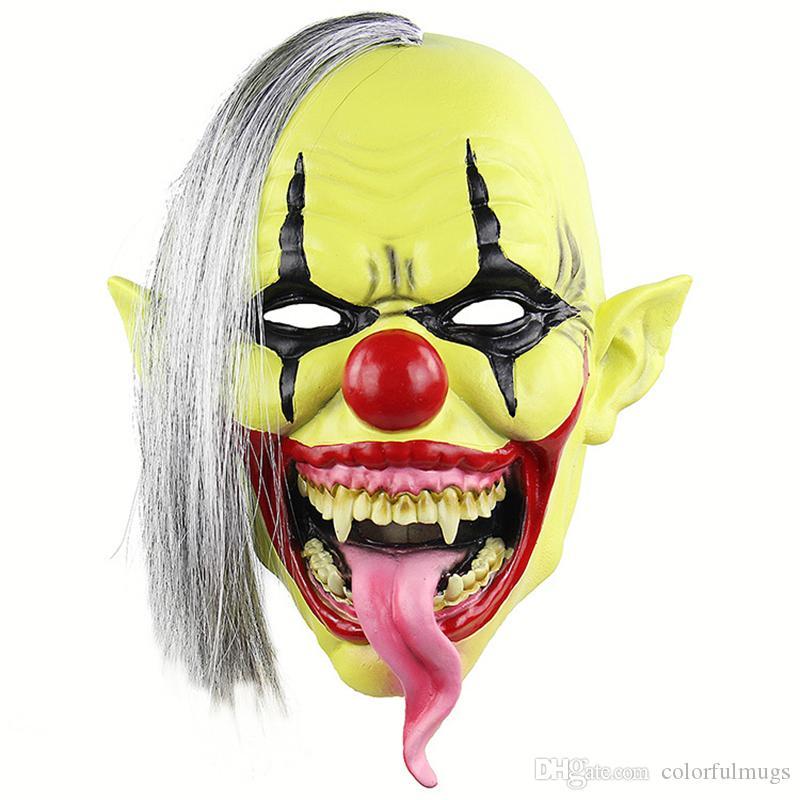Compre Mascara De Bufon De Halloween Para La Fiesta Emulsion De La