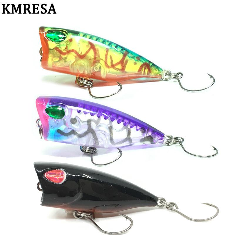 Top water Tackle Popper Hard Minnow  Baits Hook Crankbaits Popper Fishing Lures