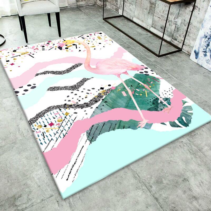 Flamingo Pattern Indoor Floor Mat Home Decor Carpet Rectangle