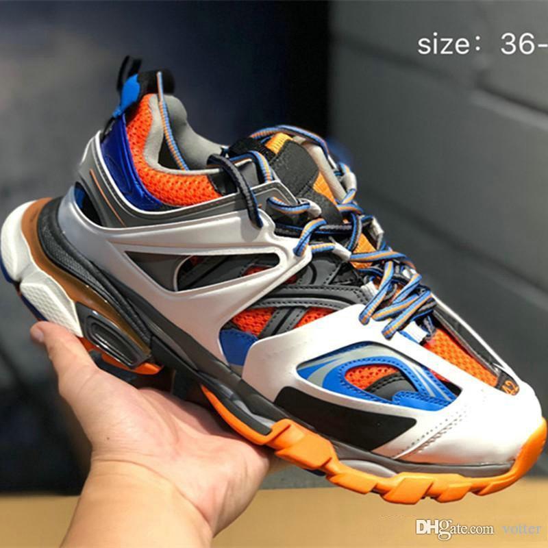 Version 3.0 Tess S Paris piste gomma noir hommes maille pour femmes Triple S espadrille Casual Sport Chaussures de sport Chaussures des Chaussures