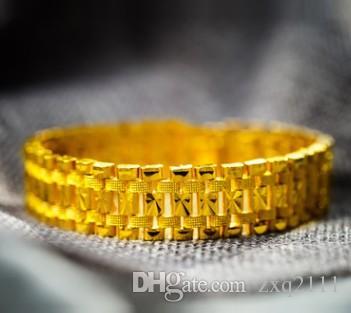 Горячие продажи новых мужчин мальчик ювелирные изделия 18K позолоченные медные монеты браслет парень муж день рождения фестиваль подарок