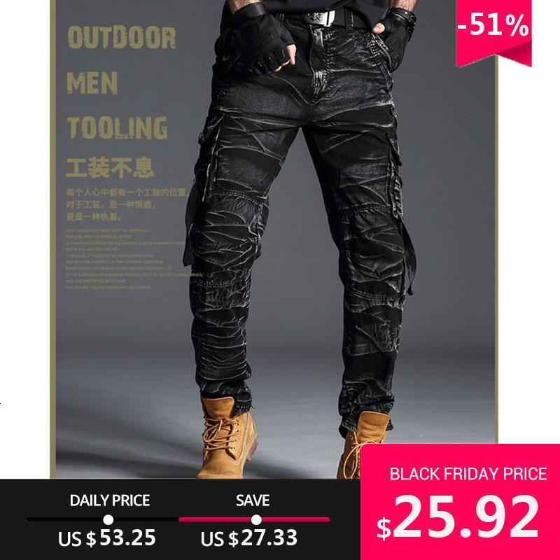 Tactical Camo Cargo Pants Men Army Military SWAT Pants Combat Paintball Homme Beaucoup Casual poches travail noir Pantalon cargo 7980 CJ191213