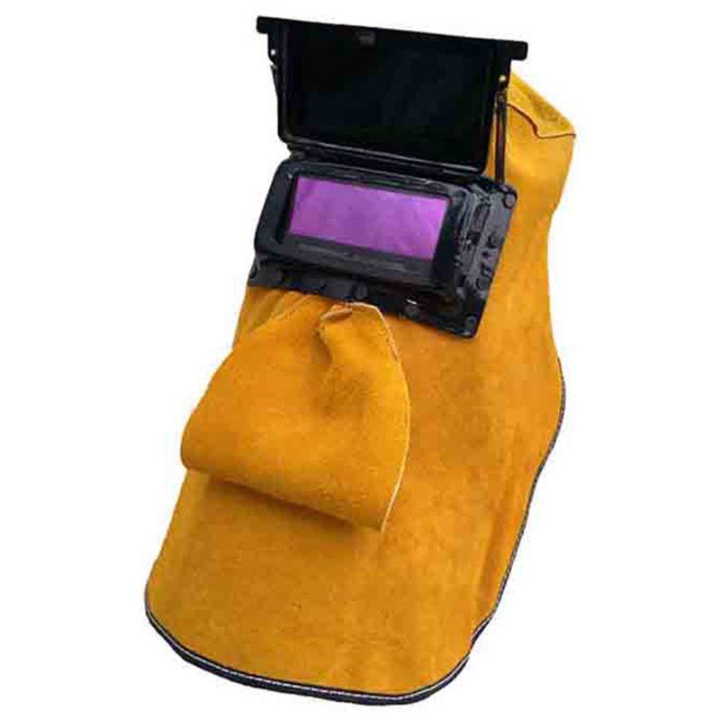 Cobertura de protecção contra Capacete freeshipping couro Máscara capacete de soldagem Solar Escurecimento automático Filtro Lens respirável Automático Luz Welder Segurança