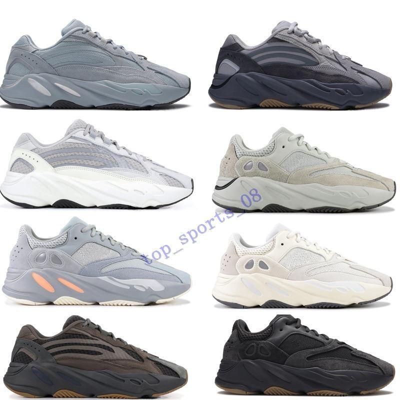 2019Inertia 700 موجة عداء الرجل مصمم النساء مستشفى حذاء جديد الأزرق 700 أحذية V2 مغناطيس تيفرا أفضل نوعية كاني ويست الرياضة مع صندوق