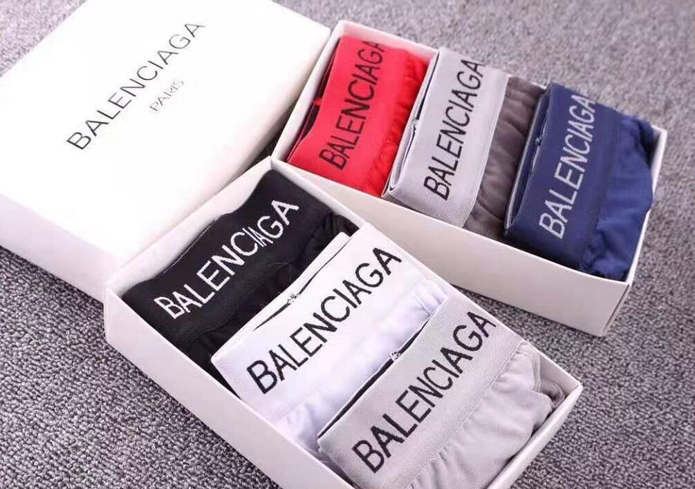 vendita calda nuova biancheria intima famoso Mens Boxer Shorts per Uomo Vintage Cuecas cotone Boxer uomo pene underpan con box