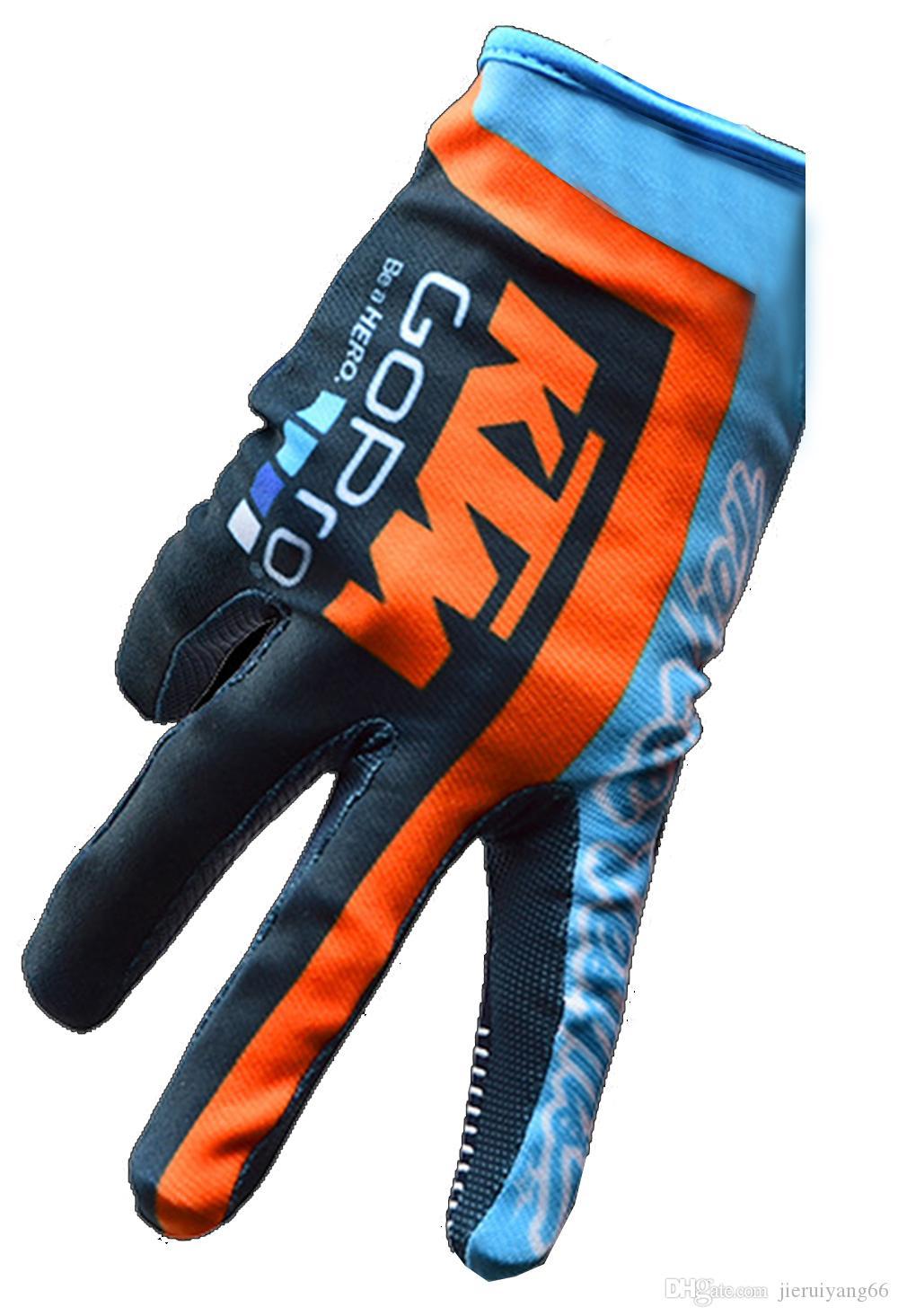المهنية على الطرق الوعرة دراجة نارية قفازات الأكثر مبيعا KTM MOTO انحدار الجبل الرجال الدراجة قفازات الأصابع كامل ركوب الخيل والسباقات