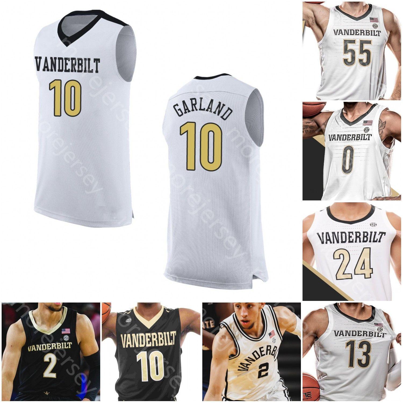 Personalizado Vanderbilt Commodores Basketball Jersey NCAA Aaron Nesmith Saben Lee Scotty Pippen Jr. Clevon Brown Evans Dylan Disu Garland
