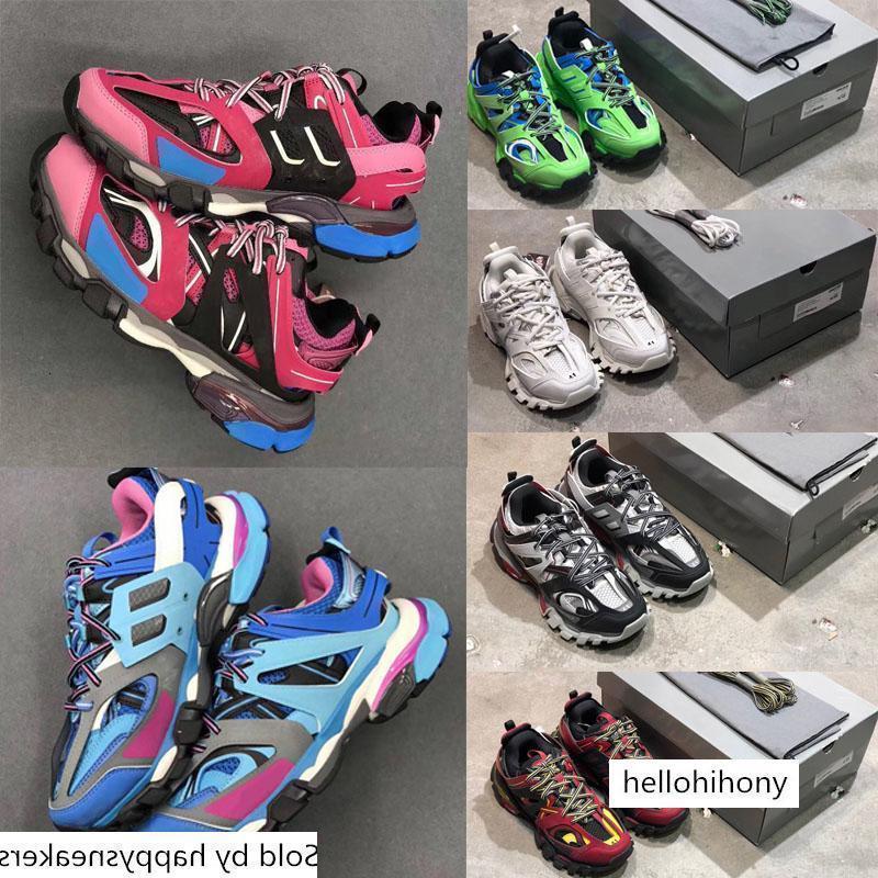 3 0 Triple S Moda. Bb casual piattaforma Sneakers Tess S. Gomma Trek rete di nylon Mens Traccia Formatori Designer Shoes Outdoor