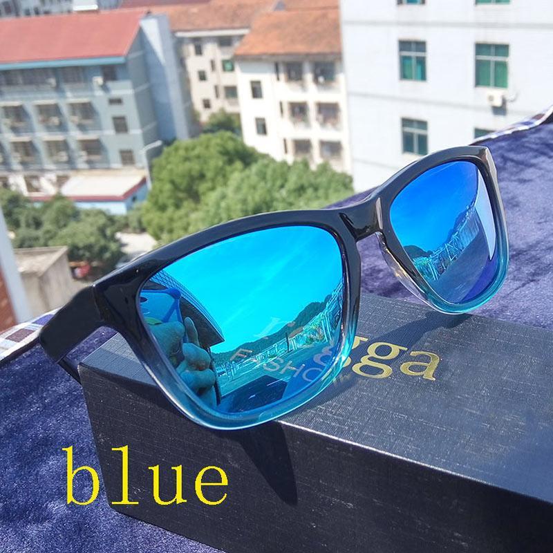 2019 Reggaeon de alta calidad gafas de sol del gradiente de lentes de color hombre gafas de sol polarizadas el deslumbramiento femenina Viajes UV 400 vendedores ambulantes