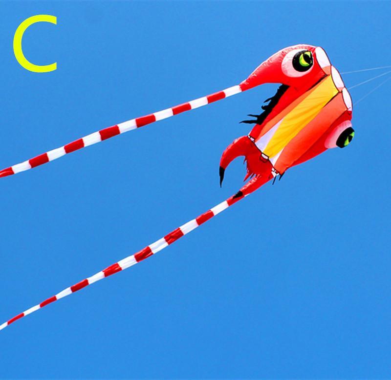 freie Verschiffenqualität neue Trilobiten Kite Nylon Outdoor-Spielzeug weich Drachen für Erwachsene fliegt Krake Drachen Rolle cometa kartal