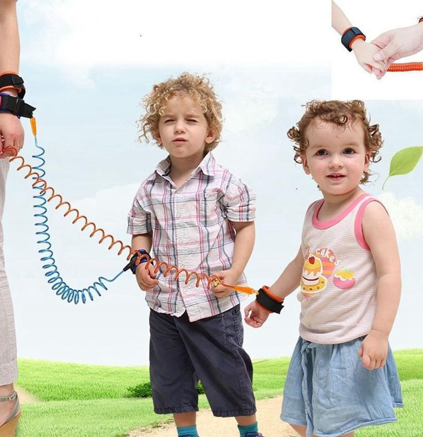 Anti Lost Band Kid Criança Chicote de Segurança Anti Anti Lost Strap Pulso Pulso Caminhada 1.5m Ao Ar Livre Parent Bebê Coleira Corda Cinto LJJK2198