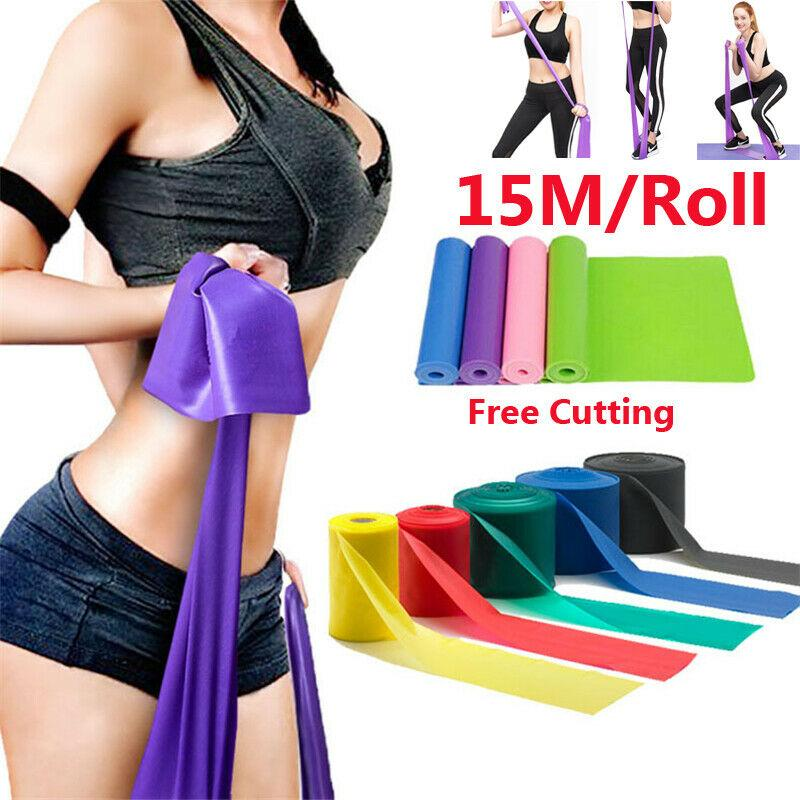15M Professional Yoga Resistance Bands Loop GYM Fitness Strength Yoga Mats Exercise