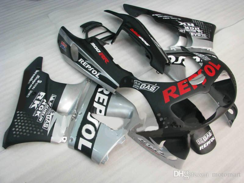 ABS 실버 블랙 HONDA CBR900RR 용 fairing kit 893 96 97 CBR 900RR 1996 1997 CBR 900 RR 오토바이 페어링 세트