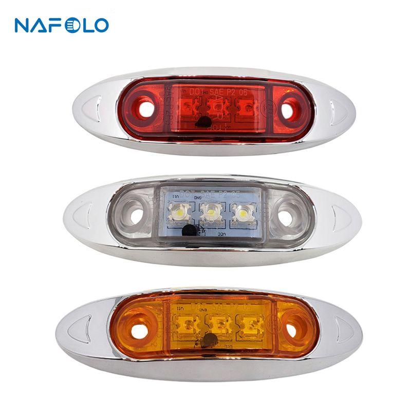 12V LED Side Marker Lamp Tail Brake indicator Light for Car Truck Trailer Lorry Bus Van Pickup E mark led clearance Signal Light