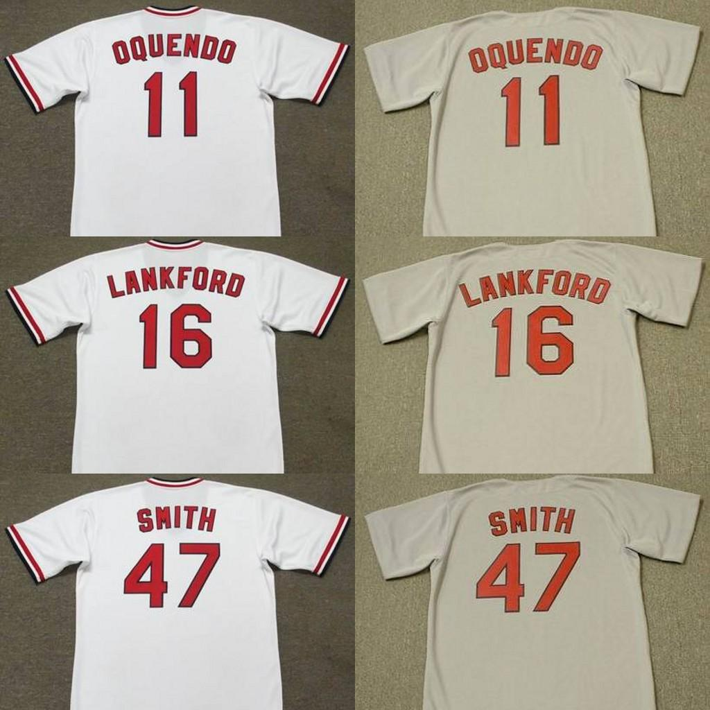 new style 6de38 80bc5 2019 Men 11 JOSE OQUENDO 16 RAY LANKFORD 47 LEE SMITH St. Louis 1975  Baseball Jersey From Trade_2018, $26.4 | DHgate.Com