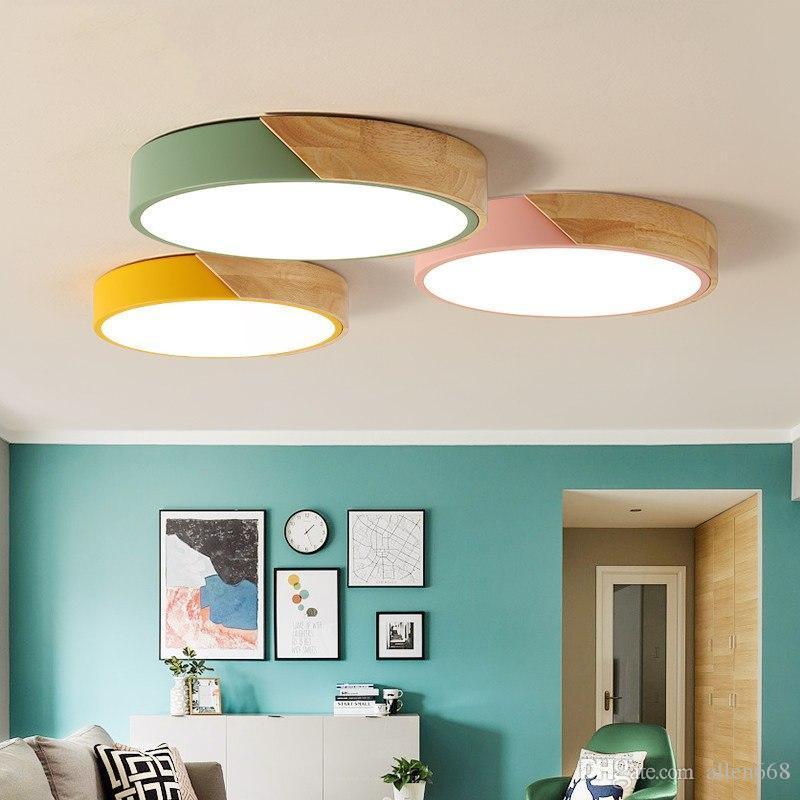 soffitto del LED Lampade rotonda soffitto ultra-sottile per il soggiorno camera da letto cucina illuminazione a soffitto moderno apparecchio Avize