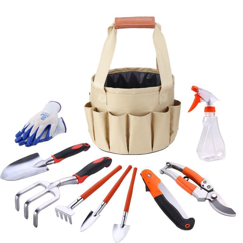 Мини-сад набора инструментов лопата комплект организатор лопата оборудование дом сад цветочные посадки прививка грабли рука пила