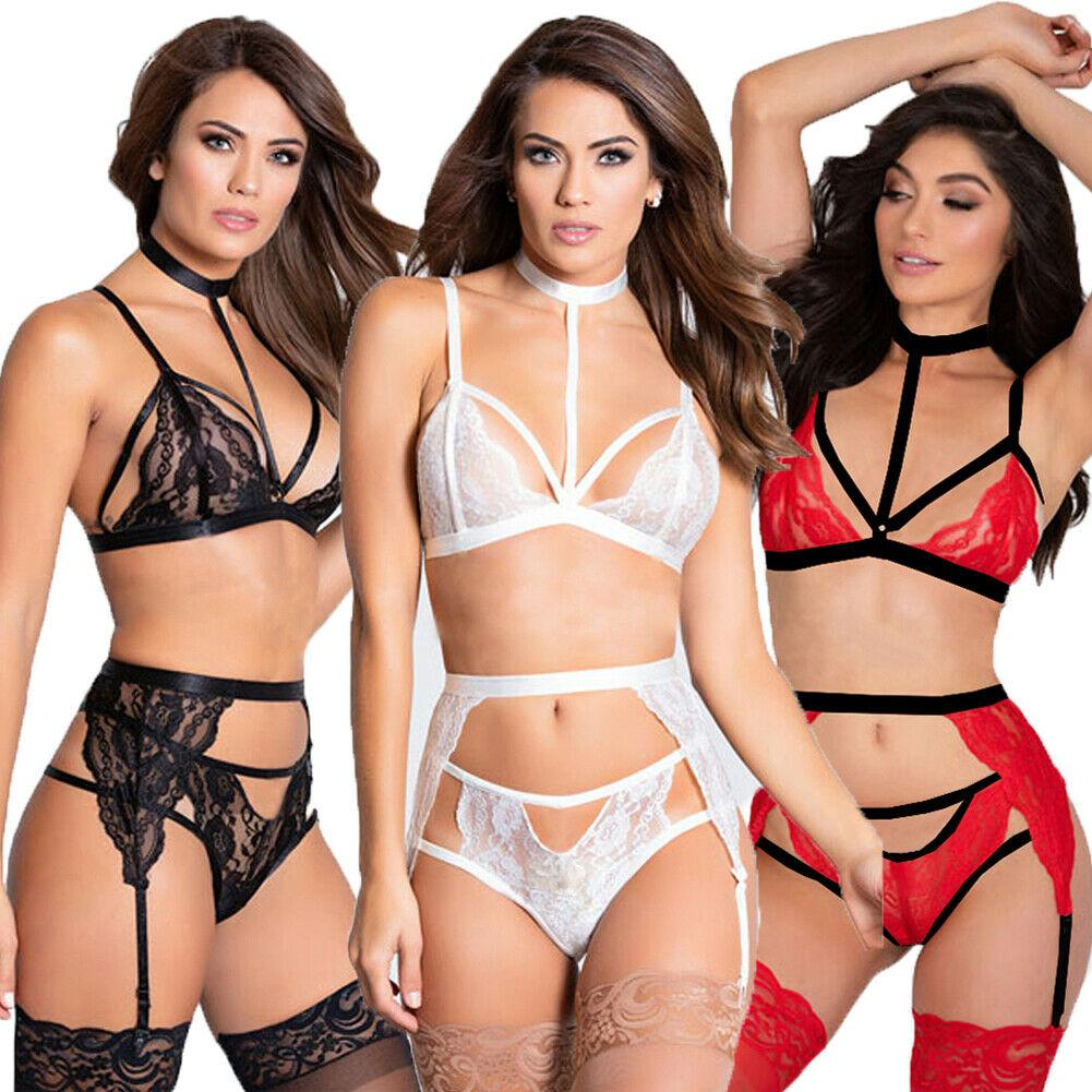 Set di vestiti neri in pizzo con intimo per la biancheria da notte della nuova lingerie da donna