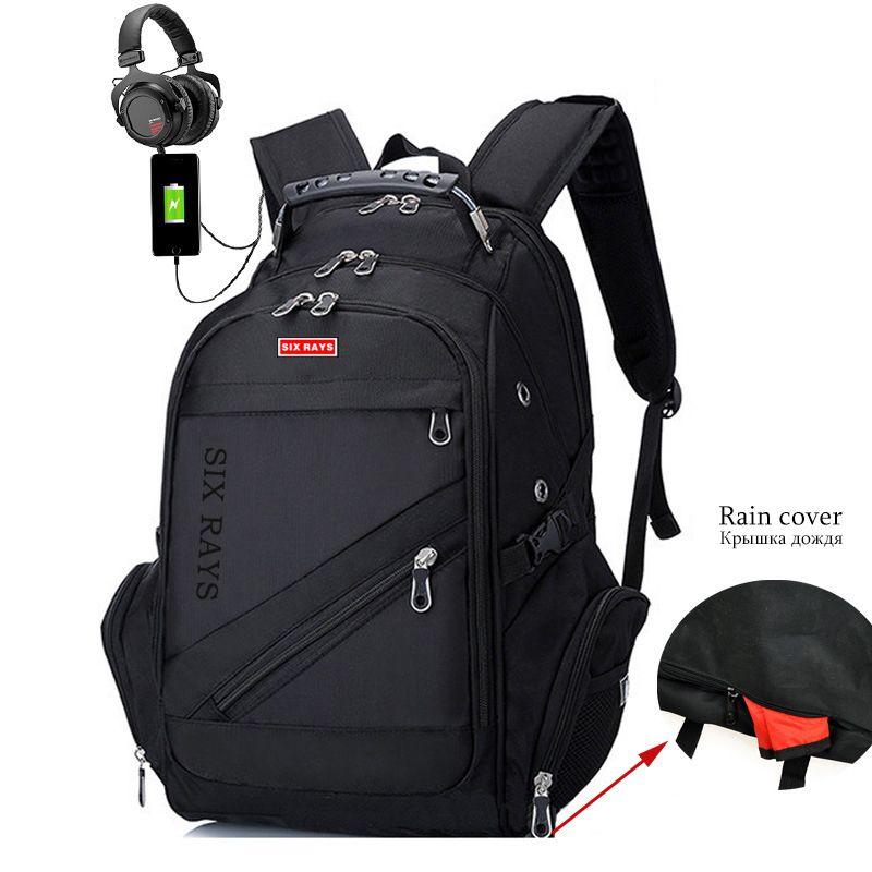 New Oxford Swiss Backpack Usb Charging 15.6 Inch Laptop Men Waterproof Travel Rucksack Female Vintage School Bag Bagpack Mochila Y19061102