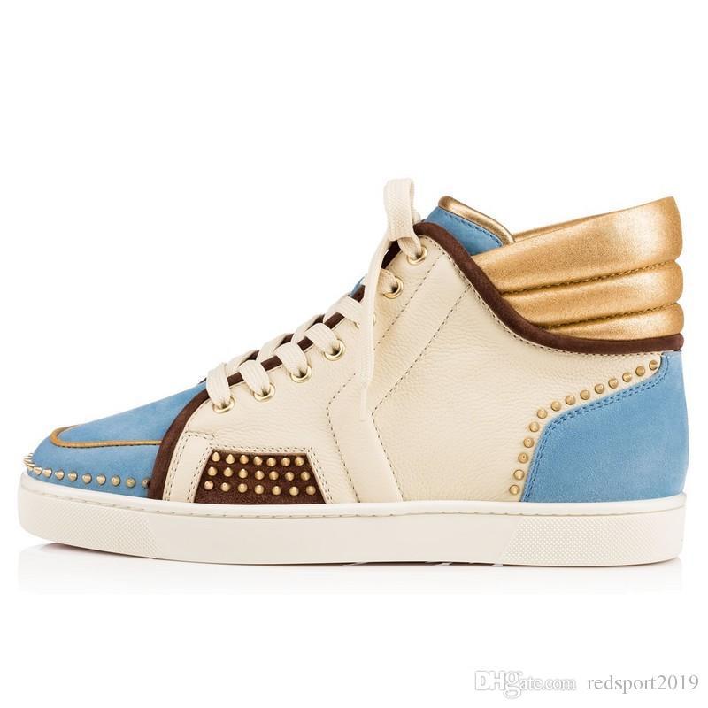 2016 nuovo colore rosso sportydudelow fondo sneaker picchi in vera pelle sportivo Amico Bassa piatto scarpe di moda casual invernali 35-46