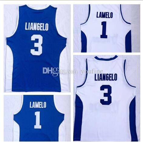 1 LaMelo 3 LiAngelo 화이트 대학 농구 의류, 판매를위한 온라인 쇼핑 매장, 할인 저렴한는 성격 농구 의류 유니폼 망