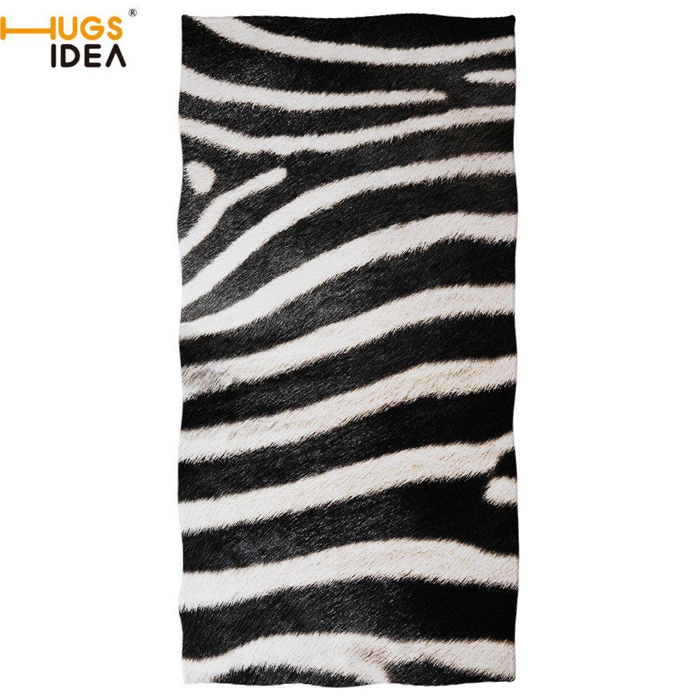 HUGSIDEA stampa del leopardo della zebra / python / Tiger / Giraffa animali Pelliccia Beach microfibra Bath Quick-Dry mano / la faccia coperta asciugamano Y200429