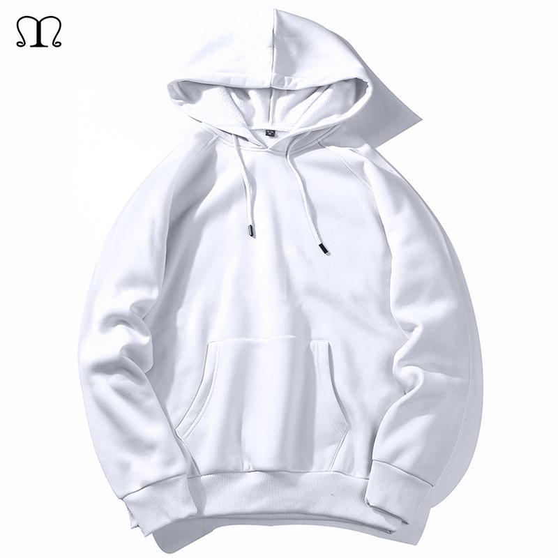 Calentar lana sudaderas con capucha de los hombres con capucha 2020 del nuevo del resorte otoño Solid Hip Hop Streetwear color blanco con capucha del hombre SZIE XXL CX200805 confección de la UE