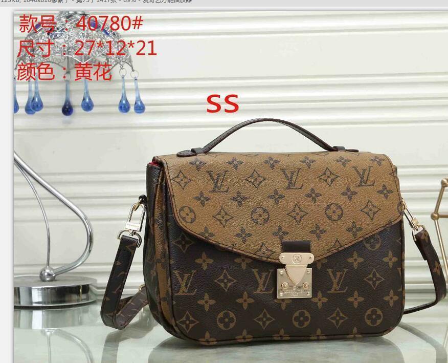 Venta de la manera del bolso de las mujeres de la vendimia Bolsas Billeteras de Cadena Mujeres bolsa de cuero Crossbody y bolsos de hombro del envío E2 QFJ1