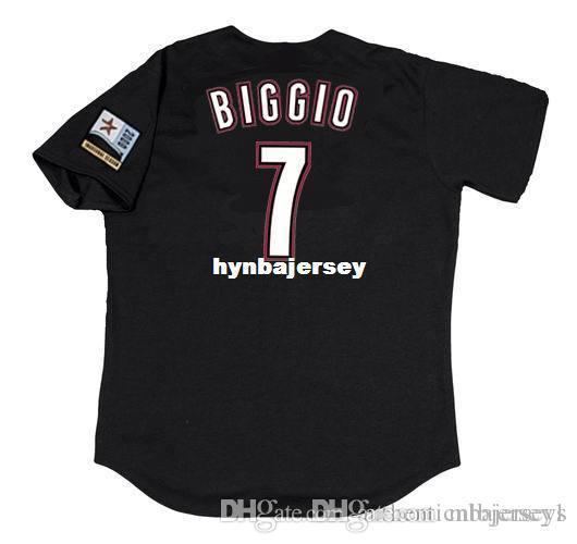 CRAIG barato personalizado Biggio Houston cosido 2000 Majestic alternativo de la vendimia Jersey de béisbol para hombre retro jerseys de reproducción