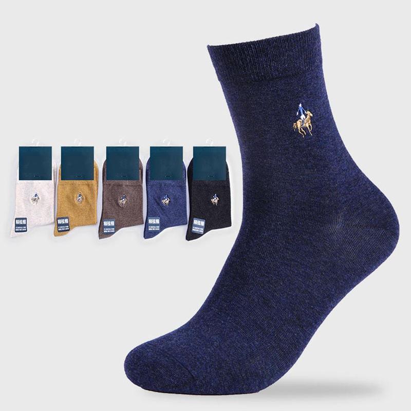 5 pairs Erkekler Pamuk Çorap Erkekler Için Yumuşak Nefes Penye Pamuk Çorap Kısa Rahat Elbise Çorap