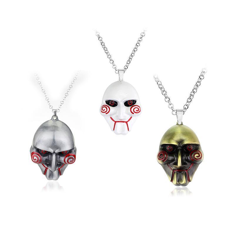 Gerilim filmi Testere Araba kolye Asma Testere Maske Araba İç Süsler Dekorasyon Dikiz Aynası Aksesuarları İçin Süsleme