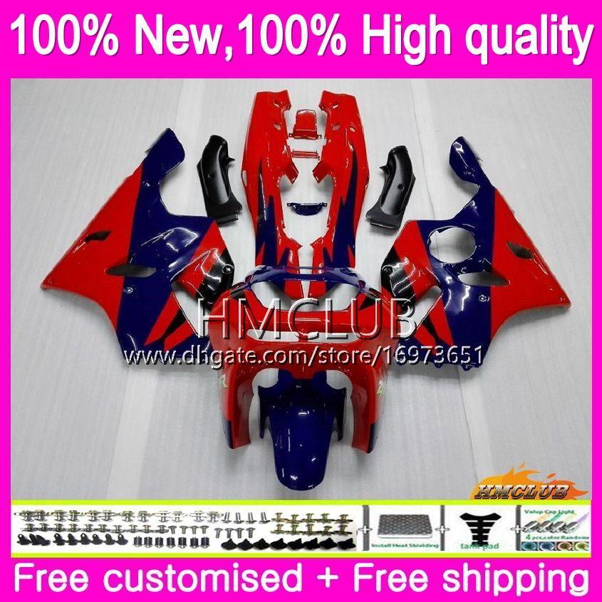 Body For KAWASAKI ZX 636 600 CC 600CC ZX6R 94 95 96 97 61HM.6 ZX600 ZX636 ZX-6R 94-97 ZX 6 R 6R 1994 1995 1996 1997 Red blue Fairings