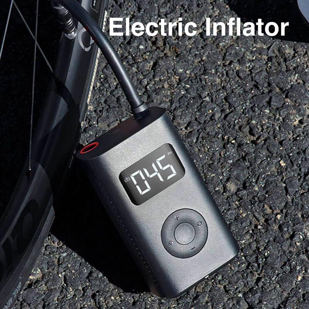 Original Xiaomi Youpin Electric Inflator Pump Portable Smart Digital Tire Pressure Detection For Bike Motorcycle Car Football