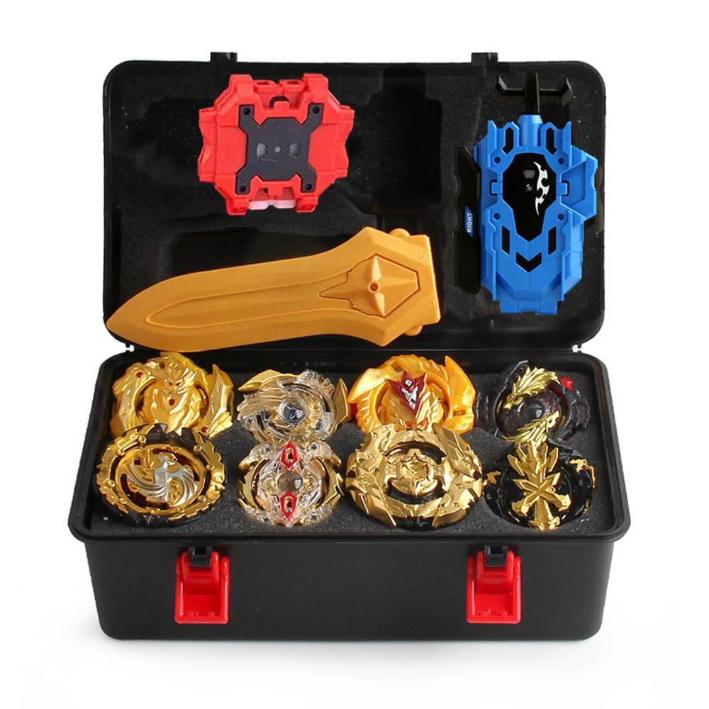 Bey Beyblade Burst New Launcher Toy Metal For Bayblade With Storage Toys Blade Box Plastic Set Box Handle Funsion Children Simue