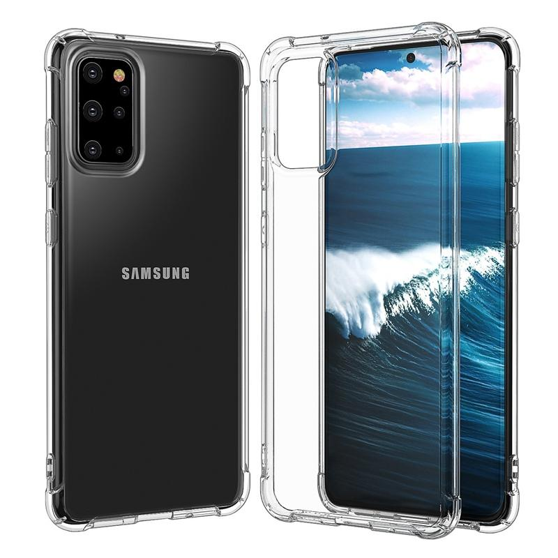 Air Bag 1.5mm Soft Silicone Anti-knock Clear Case For Samsung S8 S9 S10 S20 Plus S10e S10lite S20Ultra Shockproof Phone Cover