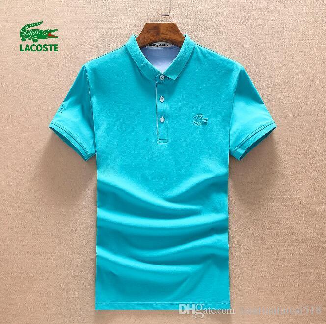 20SS crocodile de haute qualité Polo Hommes coton solide Shorts Polo été Polo Homme T-shirts occasionnels Chemises hommes POLOSHIRT 032