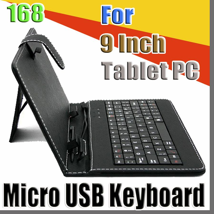 168 2020 colours USB Keyboard Leather Case For 9 inch Android Tablet pc Folding Leather Protective Case B-JP