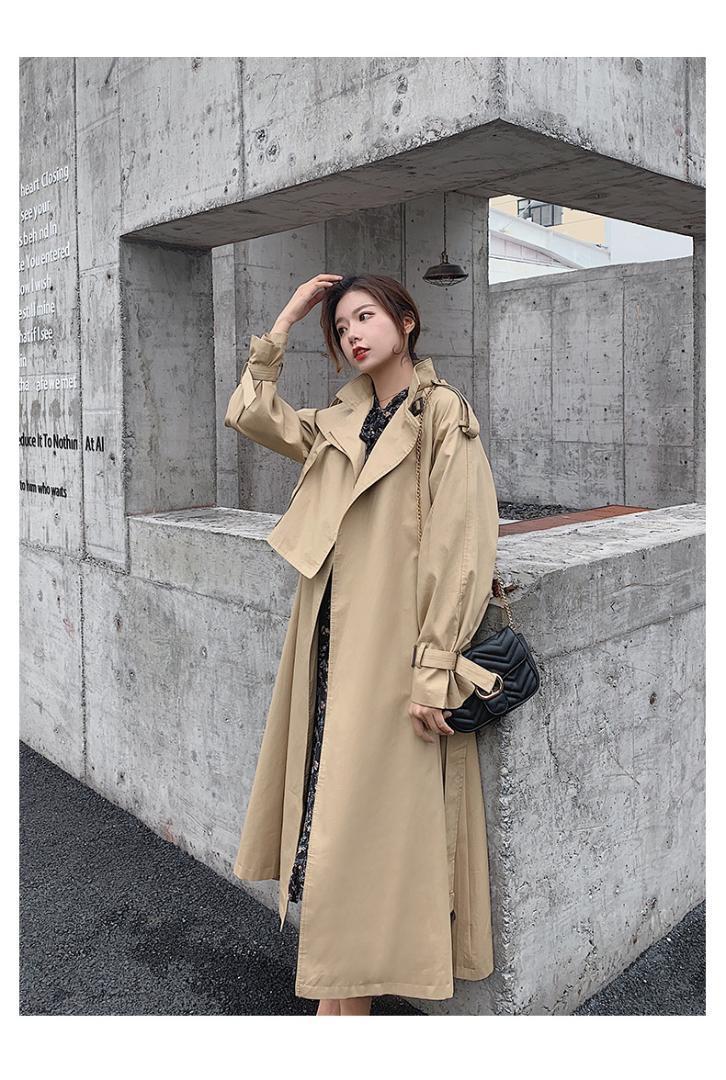 Kayış kadın giyimi Femme Hiver'de Palto J530 ile Toptan-Yeni Bahar Autumn haki trençkot kadın moda stil X-Uzun Gevşek giysiler