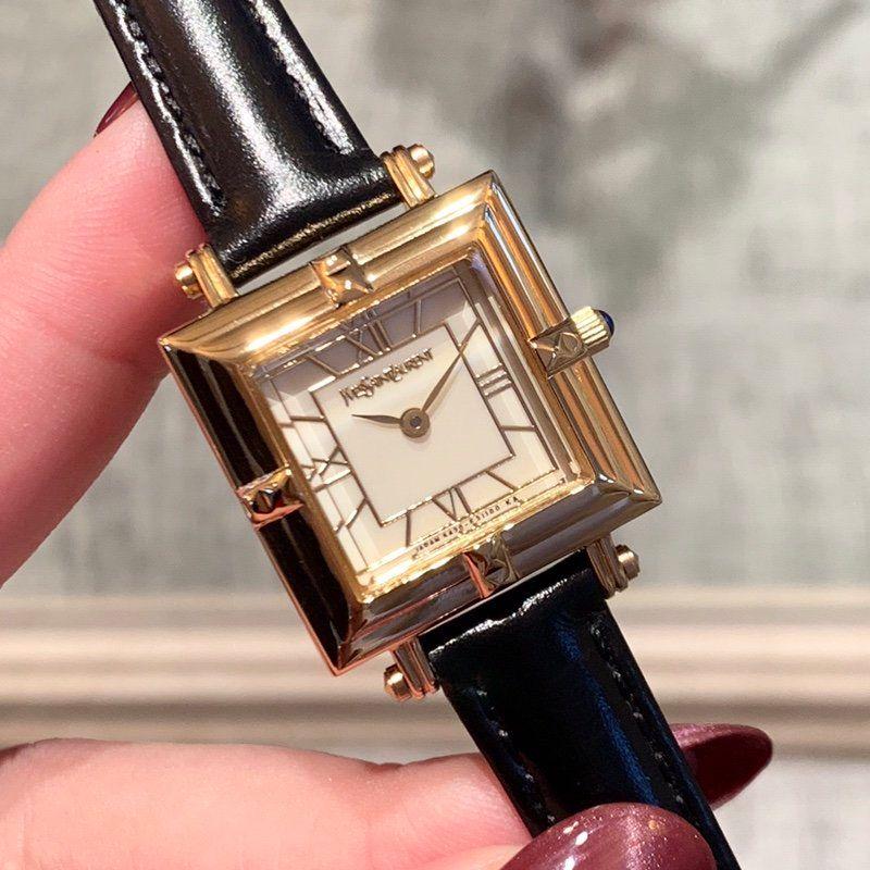 Y luxe dames Edition Limitée diamant montre en or à quartz batterie mode de bande célèbre coque en cuir calendrier complet en acier inoxydable