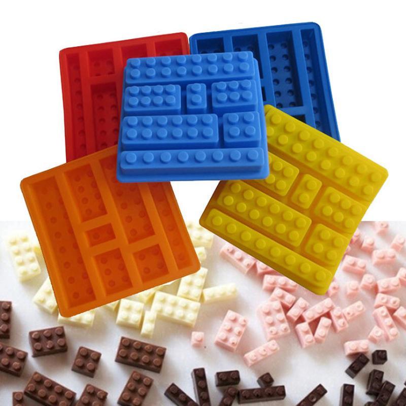 Kek DIY Yapı Taşları Kalıp Silikon Çikolata Kalıpları Dondurma Kalıp DIY Çikolata Silikon Kalıp Ice Cube Tepsi Kek Araçları BH3798 TQQ