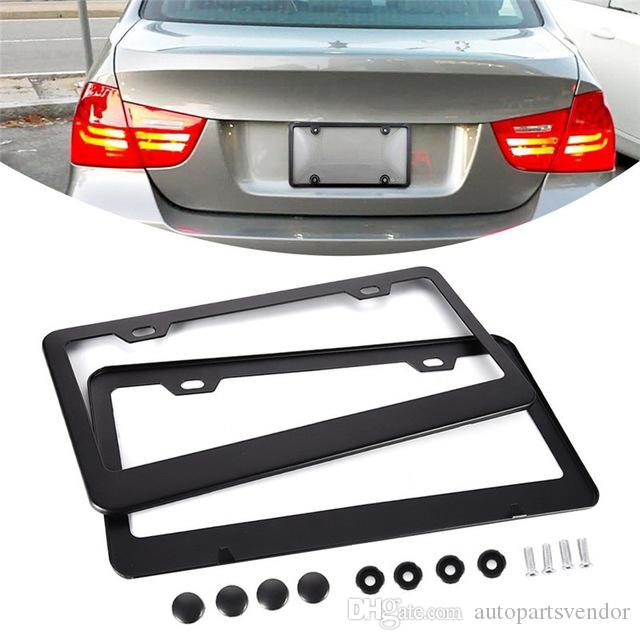 2PCS/Pack Exquisite American Standard Aluminum Alloy 2-hole License Plate Holder License Plate Frame