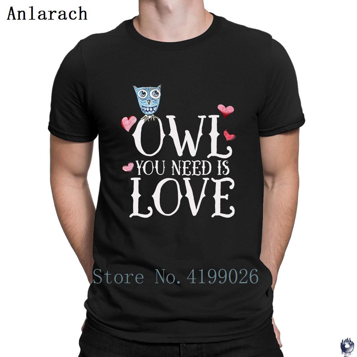 OWL que necesitas es amor camiseta 2018 camiseta personalidad de Hip Top nuevo estilo O-Cuello de los hombres del traje de la novedad anti-arrugas