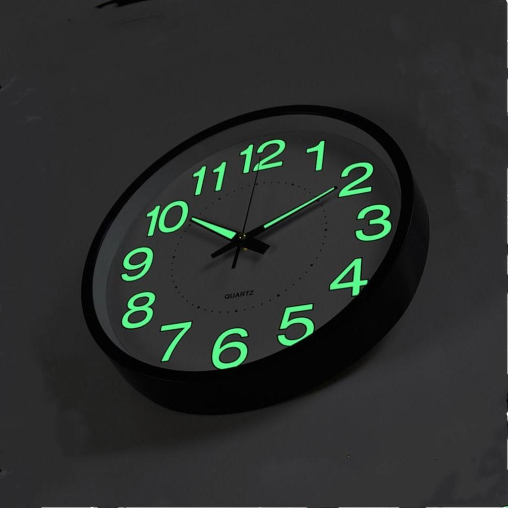 12 Inch 30 CM Luminous Wall Clock Glow In The Dark Quartz Watch for Kids Rooms Bedroom Living Room Hanging Clock Home Decoration