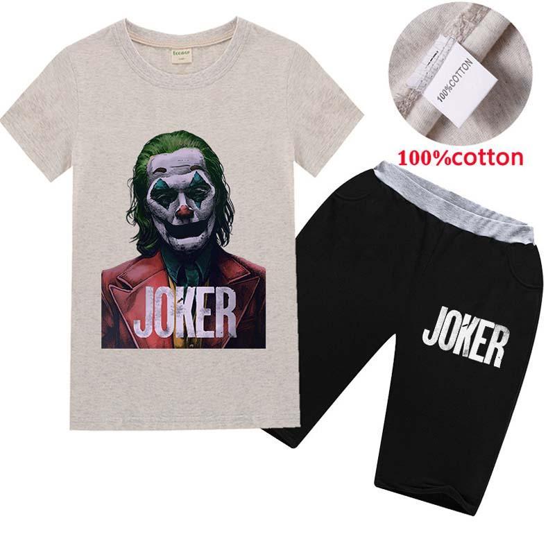 2 unids diseño de lujo niños ropa de ropa de verano ropa de bebé impresión para niños trajes para niños moda camiseta camiseta pantalones cortos niños trajes de dibujos animados
