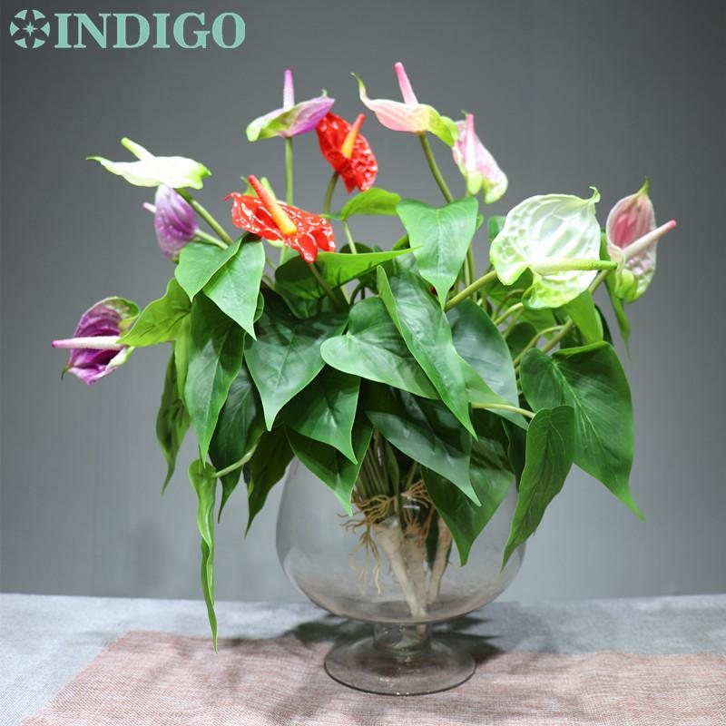 2020 Anthurium Bouquet Calla Leaves 3 Flowers Calla Real Touch Wedding Display Flower Artificial Home Flower From Stunning88 22 83 Dhgate Com