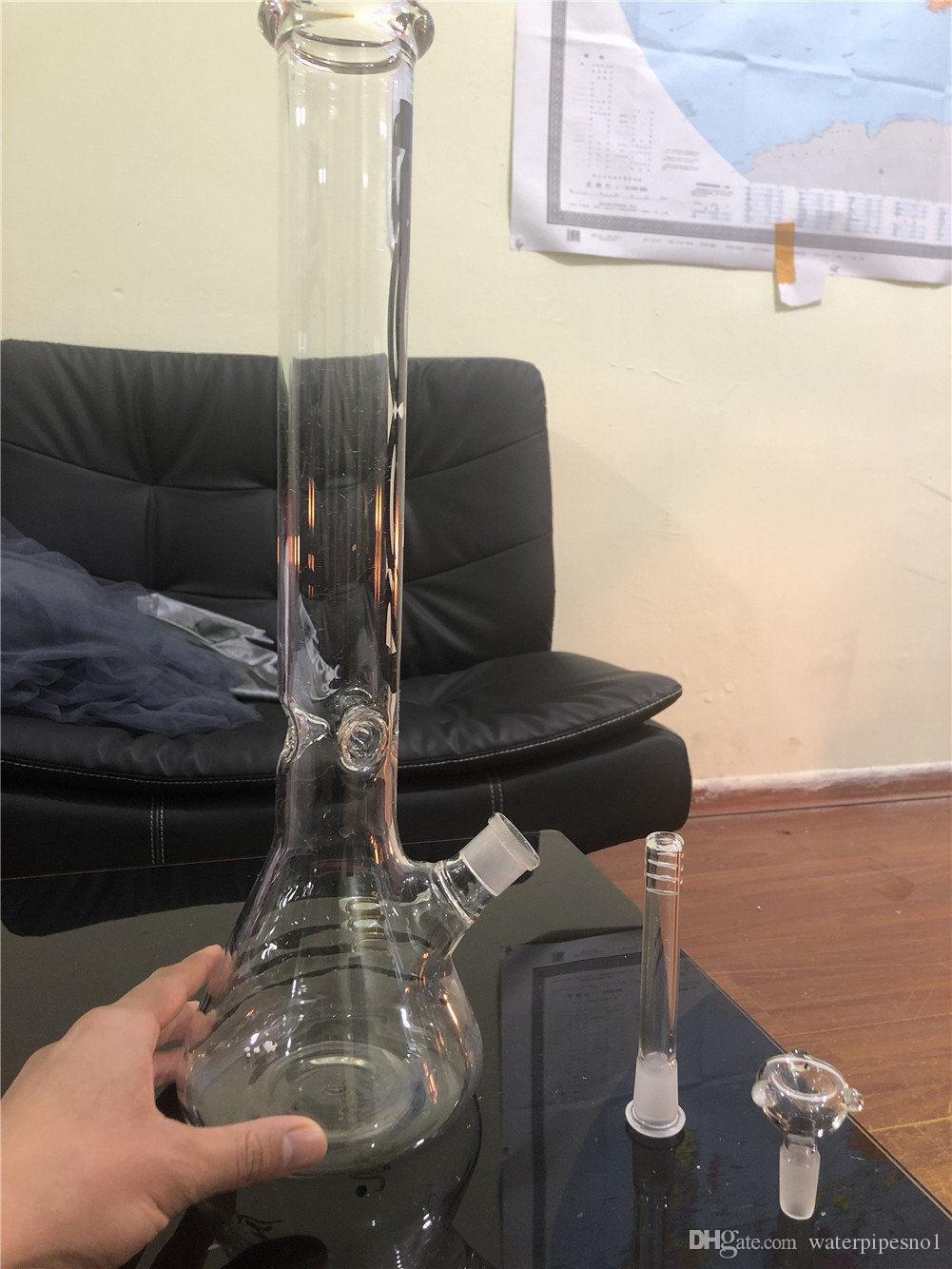 45cmBig Glasbongs Beaker BongThickness Glaswand Super Heavy Becher Wasserrohre mit 18,8 mm Male Joint Glasschüssel Becher